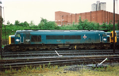 45 007 Leicester depot, 19-07-87 (afc45014) Tags: leicester peak sulzer class45 45007