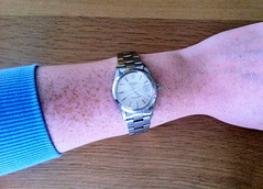 Why girls wear men's Rolex? (iBSSR who loves comments on his images) Tags: girls wearing price kids vintage cool geek watches swiss auction steel rich daughter things next made automatic bracelet mens wrist freckles 1983 oyster date collectors chronometer luxury generation rolex sporty sixteen perpetual 15000 midsize 34mm my