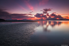Over the horizon (Nelson Michael) Tags: sunset seascape beach zeiss landscape evening landscapes seascapes sony lee malaysia nd sabah cokin pitas a99 sonyalpha rgnd marasinsim
