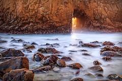20150118 Keyhole Arch -4 (Tony Castle) Tags: california beach canon photo long exposure arch unitedstates bigsur 8 layers suite keyhole onone 6d 1635mm
