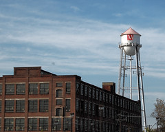 Water Tower and Old Factory (fotophotow) Tags: newjersey nj mercercounty trenton