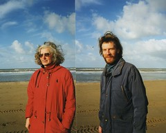 united (streamer020nl) Tags: sea mer beach strand analog ed us meer scheveningen zee denhaag louise 1998 haag plage