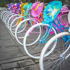 Colorful hats (SMSharjeel) Tags: street color indonesia hats jakarta cycle