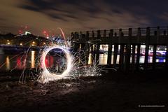 Light Painting (alalchan) Tags: city longexposure lightpainting london thames slowshutter