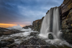 Ensuing Chaos (Bob Bowman Photography) Tags: ocean california sunset sea seascape water northerncalifornia sketchy landscape coast waterfall nikon rocks waves chaos pacific stormy cliffs sonomacounty sonomacountycoastline