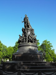Catherine II Monument, Saint Petersburg (leonyaakov) Tags: park travel holiday art museum architecture stpetersburg russia moscow promenade monuments sunnyday citiscape   citytour  marculescueugendreamsoflightportal