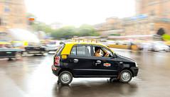 black & yellow! (the.photoguy (Instagram handle)) Tags: street cab taxi explore mumbai panning xing santro hundai blackyellow