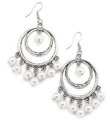 5th Avenue White Earrings P5610A-3