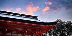 "Shimogamo Shrine Roumon I ""  I"" (Hiroshi Ban /  ) Tags: travel blue sunset orange snow history japan temple ruins kyoto gate shrine sigma sanctuary sd1 fovron"