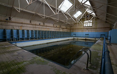 Ushaw Seminary Swimming Pool (Michael's pics... (The Amateur Wanderer 28DL)) Tags: new old blue water pool swimming bath natural decay unique tiles baths preserved exploration untouched rare find decayed ici codename pristine urbex grimy condition perfectly