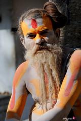 साधु sādhu (YellowSingle 单黄) Tags: nepal river temple himalaya hinduism pashupatinath bagmati sādhu साधु