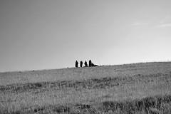 Esquisse (Haomin/) Tags: africa morning blackandwhite bw mountain man men nature trekking noiretblanc group ceremony roadtrip nb simple pure minimalist lesotho esquisse olympusepl2
