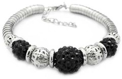 5th Avenue Black Bracelet P9111-5-1