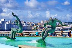 A Coruña La Corogne Galice Espagne 218 - Rúa Matadero, statues de surfeurs (paspog) Tags: spain galicia espagne spanien acoruña galice lacorogne rúamatadero