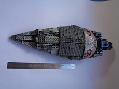 Mon Calamari Star Cruiser (dazza.) Tags: star starwars lego spaceship mon wars cruiser calamari greyscale