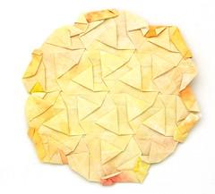 Fujimoto Tesselation Galaxy back (Pliages et vagabondages) Tags: origami tessellation décoration fujimoto
