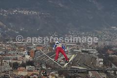 09 Innsbruck (Alejandro Sala.apspressimage.com) Tags: sport horizontal germany bavaria austria jump europe skiing competition rump hills event descend wintersport innsbruck oneperson extremesport skijumping 64thfourhillstournament vierschanzentourneeramp