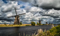 Kinderdijk (markchan0516) Tags: travel sky holland water netherlands windmill dutch architecture clouds rotterdam south kinderdijk