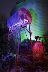 Blue Fuel Tank (Notley) Tags: blue winter light red lightpainting green night midwest tank farm january silo missouri greenlight redlight nocturne bluelight bucolic fueltank grainsilo boonecounty 2016 corrugatedsteel 10thavenue notley redtank ruralphotography ruralusa boonecountymo notleyhawkins missouriphotography httpwwwnotleyhawkinscom notleyhawkinsphotography farmatnight rgblightpainting