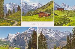 Ansichtkaart Postkarte Mrren Berner_Oberland 1650m (dickjan thuis) Tags: postcard berneroberland postkarte ansichtkaart mrren 1650m