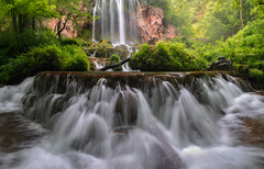 Falling Into Spring (Frankie Kenneth) Tags: water misty flow virginia perspective waterfalls rush greens covington waterscapes ultrawideangle