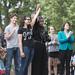 Erin Maye Quade and Ilhan Omar at a vigil in response to the Orlando Pulse shooting