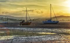 The Estuary (Nige H (Thanks for 4.8m views)) Tags: sunset england nature landscape boats evening sundown estuary devon riverexe exeestuary