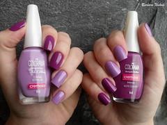 Homa Mani: Colorama - Contar Estrelas + Noite Quente (Barbara Nichols (Babi)) Tags: lils roxo purplenailpolish purple colorama contarestrelas noitequente homamani esmaltaoconjunta esmaltaodascorujas