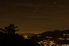 Absolutely in Love. (aeeshahraha) Tags: panorama night landscape lights bynight citylights paesaggio notturno