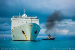 powerful giving a tow (adicunningham) Tags: ocean life boats island boat ships tugboat bermuda tug dockyard islandlife