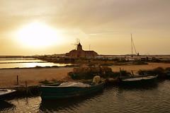 """MARSALA,""""SALINE DELLO STAGNONE"""" H 7:45 PM (S.Torrisi@ph) Tags: sunset boat tramonto barche saline sicilia trapani marsala mozia mulini stagnone"""