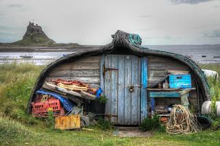 Holy Island boat shed