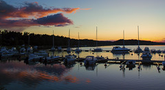 Archipelago light (Joni Mansikka) Tags: sunset sea summer nature marina suomi finland landscape boats colours outdoor silhouettes calm masts archipelago naantali canonefs1855mmf3556iii