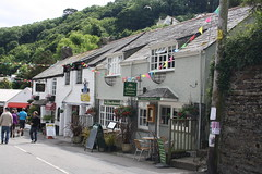 Polperro Restaurant (lazy south's travels) Tags: uk sea england building english shop architecture restaurant town seaside cafe cornwall britain side british polperro