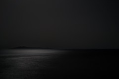 With the moon behind you... (kazste17) Tags: sea night landscape island darkness andros sentiment llight blavk
