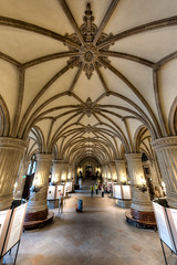 Inside the Rathaus (Esther Seijmonsbergen) Tags: distortion history germany deutschland europe cityhall interior hamburg wideangle arches rathaus hdr citytrip 3xp estherseijmonsbergen lunchtip