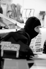 Woman wear balaclava to perform!  #balaclava#cagoule#sparco#she beatiful (CagouleMen) Tags: she balaclava sparco cagoule