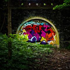 A Framed Picture in Stone (Jon Halvor Jonsrud Knutsen) Tags: street city urban art norway outdoor frame photowalk torshov photoqapture