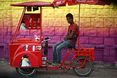 POLAR Ice Cream (N A Y E E M) Tags: seller vendor icecream polar yesterday evening candid portrait red colors street shishupark outerstadium chittagong bangladesh sooc raw unedited untouched unposed carwindow