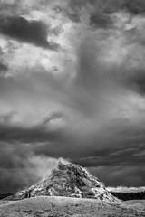 White Dome Geyser (HubbleColor {Zolt}) Tags: blackwhite whitedomegeyser yellowstonenationalpark travel wy wyoming unitedstates us