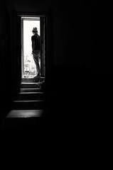 Step into the light (debbykwong) Tags: leica light blackandwhite lightandshadows minimal negativespace step streetphoto minimalism bnw minimalurban leicax bnwstreet leicaxtyp113