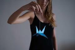Origami swan (~ielle~ ilarialuciani.com) Tags: origami swan cigno dof depthoffield camilla blue sonya7 leica35mmsummicron