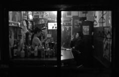 Outside looking in (jonmanjiro) Tags: leicamp nikon35mmf18ltm fujifilm fujisuperia400xtra shinjuku tokyo goldengai    autaut bwfp