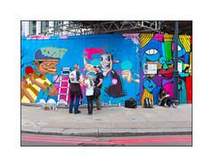 Graffiti (Cloak Work & SP Zero, Lost Souls), East London, England. (Joseph O'Malley64) Tags: spzero lostsouls graffiti streetart eastlondon eastend london england uk britain british greatbritain hordings fencing constructionfence constructionsite scaffold scaffolding pavement blockpaving granitekerbing tarmac redroute nostoppingatanytime access accesscovers murals muralist ladder rucksacks fans aerosol cans spray paint hunto cloakwork