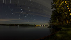 Stair Trails Over Lake Bloomington (Gregg Kiesewetter) Tags: lakebloomington illinois stars startrail bigdipper northstar polaris composite photostack