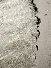 Wasserkante am Strand von St. Peter-Ording; Eiderstedt, Nordfriesland (2) (Chironius) Tags: eiderstedt nordfriesland schleswigholstein deutschland germany allemagne alemania germania  szlezwigholsztyn niemcy stpeterording nordsee meer see northsea mardelnorte maredelnord merdunord erde erdfarbe