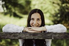 Sofia (Matias Moreno Photography) Tags: fifteen girl book photos smile vsco bokeh nikon country countryside portrait natural light