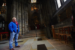 Inside Glasgow cathedral (22) (dddoc1965) Tags: dddoc davidcameronpaisleyphotographer glasgow cathedral necropolis landmark scotland october 7th 2016 cloudy precinct autumn yellow trees windows ceiling stone arcitech flags kenny game thrones reid