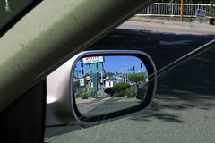 Location: Des Moines, Washington (Blinking Charlie) Tags: sidemirror tacotime desmoines washingtonstate usa 2016 suburbanlandscape cactussign blinkingcharlie canonpowershotg9x drivethru