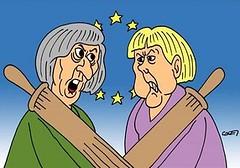May, infermiera inglese per curare le ferite anche della destra italiana (SatiraItalia) Tags: teresa may